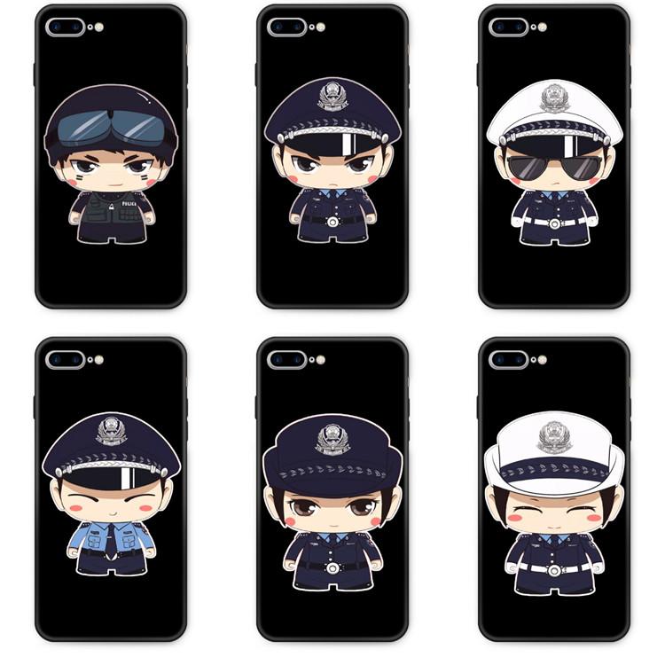 适用vivoNEX3s手机壳旗舰版IQOOpro/neo保护卡通警方小警察POLICE