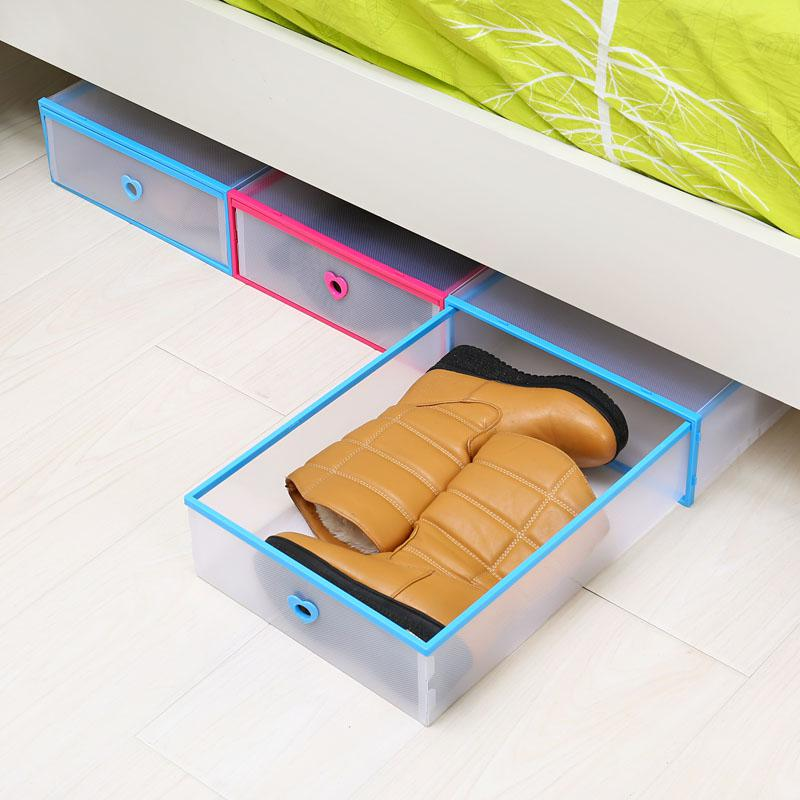 Short storage boots long boot box drawer type boots transparent plastic boots snow boots storage box shoe box