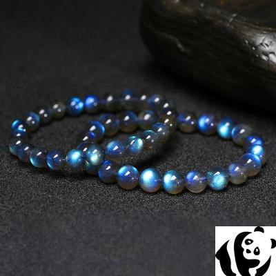 La Shi bracelet, female ice seed, grey blue moonlight feldspar hand string, single circle, blue light, Sri Lanka