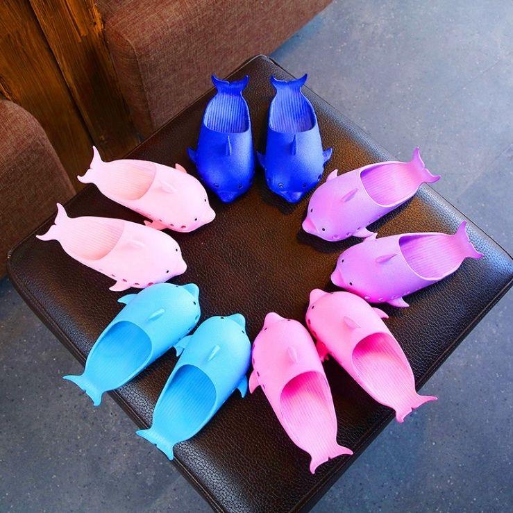 旋悟夏季新款防滑儿童凉鞋拖鞋家用男童女童创意可爱宝宝海豚拖鞋