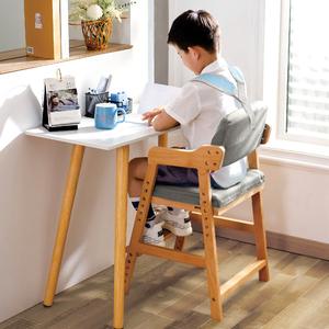 实木儿童学习椅可调节升降书桌椅小学生家用座椅学生餐椅靠背椅子