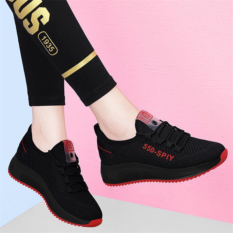 老北京布鞋女2020年夏季新款网面休闲平底轻便运动鞋透气旅游鞋潮