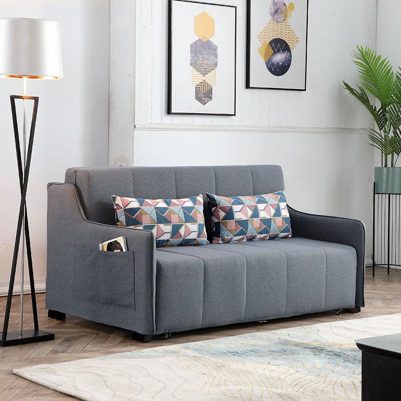 ソファー両用の小型ツインシンプル収納ソファベッドがリビングに配置できる仏山家具の多機能折りたたみです。