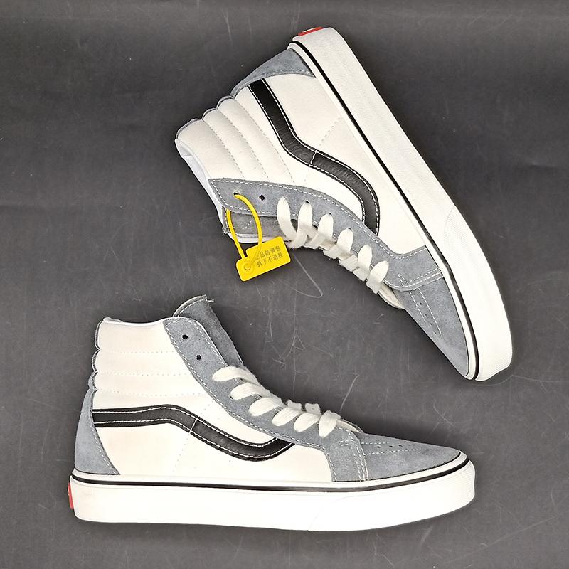 11-30新券卡万斯官网帆布鞋sk8灰白色男鞋