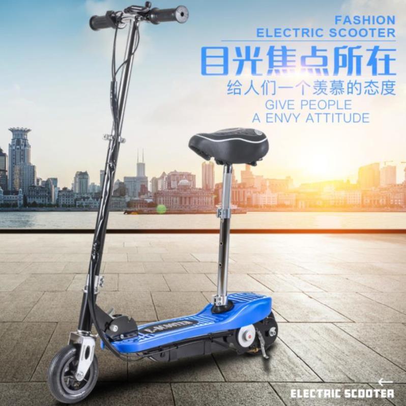 迷你手扶滑板车代步车电动女车低速轻便折叠型单车男女性踏板车随热销0件包邮