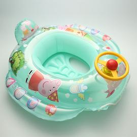 加厚儿童游泳圈温泉男女宝宝腋下圈小猪方向盘1-3-6岁带拖绳坐圈图片