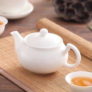 。潮州陶瓷骨瓷简约家用纯白色小号盖碗茶杯茶壶三才碗功夫茶具。