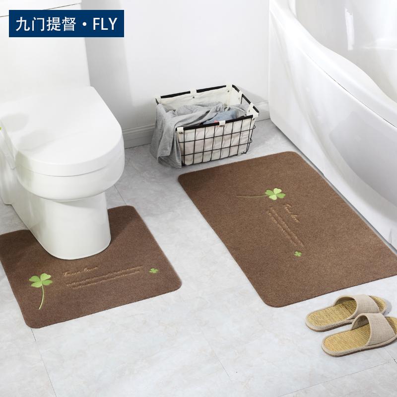便器のマット、防水パッド、トイレのバスルームの吸水滑り止めマット、寝室の入り口マットセット