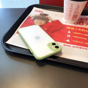 抹茶绿精孔轻砂苹果11手机壳xsmax透明7plus苹果x硅胶iphone11promax硬壳8p个性简约11pro防摔xr男女SE2新款
