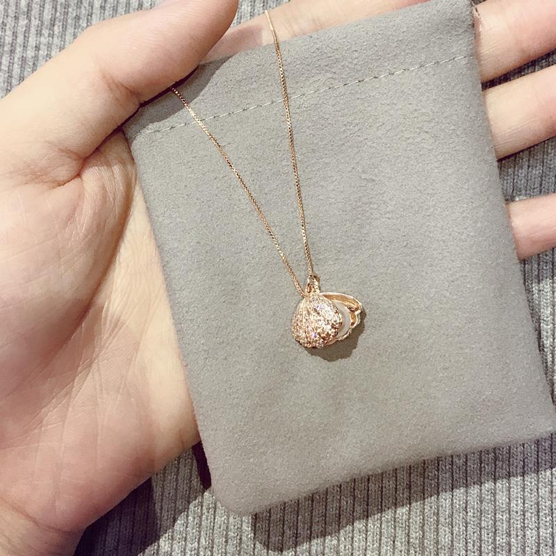 JG珍珠项链女潮小众锁骨链气质网红高级感法式采用施华洛世奇元素