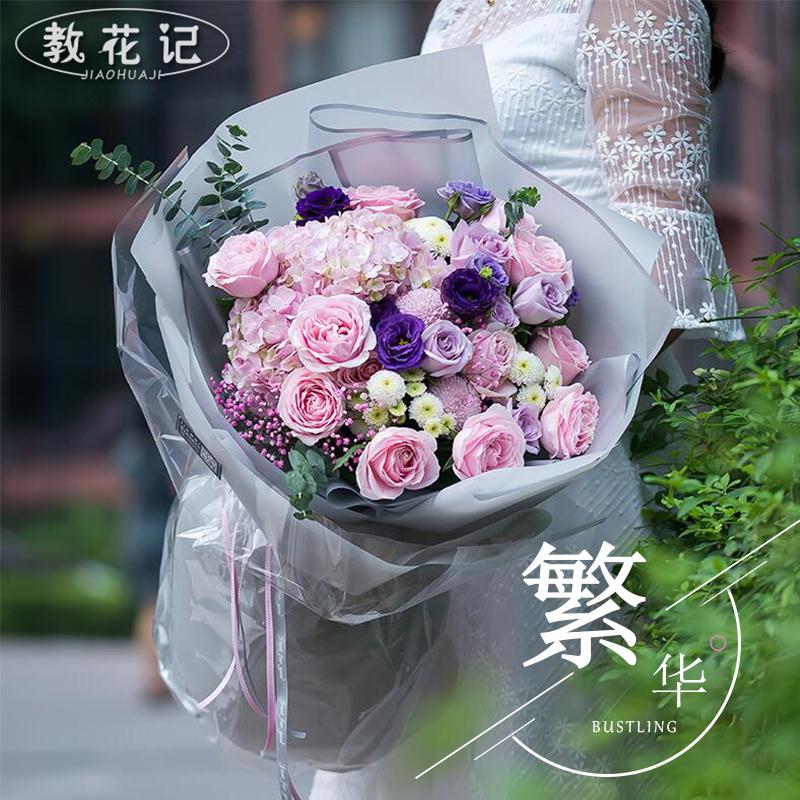 庆阳鲜花速递红玫瑰表白花束生日礼盒全国同城西峰花店配送花上门