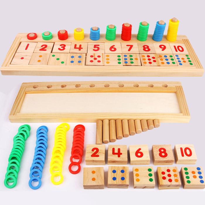 数学蒙氏教具彩虹甜甜圈对数板儿童早教幼儿园玩具数字认知学习,可领取3元天猫优惠券