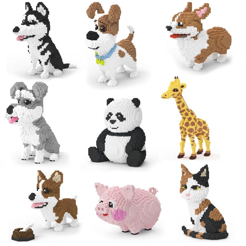 拼装儿童益智颗粒积木塑料玩具拼插建构diy建构早教玩具DIY,可领取5元天猫优惠券