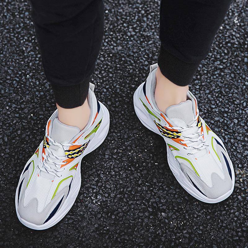 2019新款韩版潮流鞋休闲运动鞋增高鞋抖音网红鞋透气网纱鞋