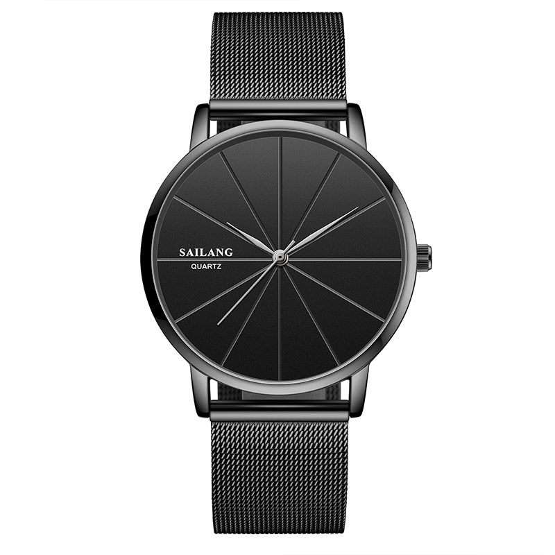 Sailang watch male student simple female watch new couple fashion ultra thin Korean mens and womens waterproof refined steel watch