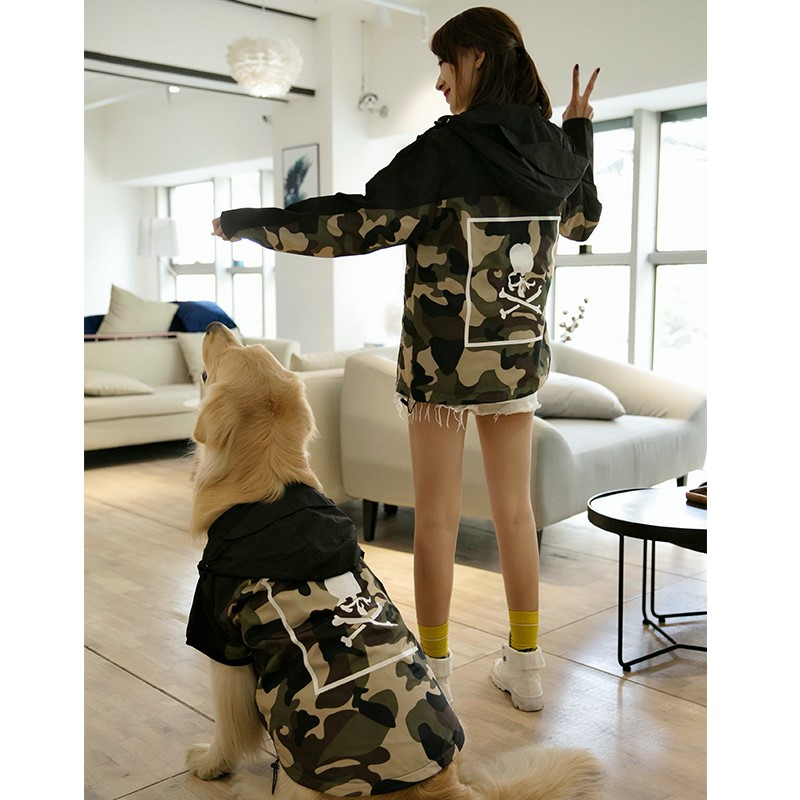 Autumn and winter pet clothes parent child clothes fashion brand coat Teddy golden cat dog size dog thin thick big dog