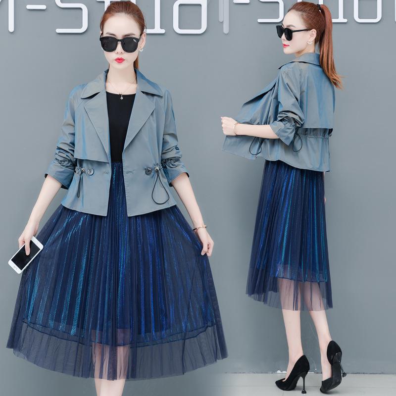 网红爆款秋装新款早秋流行女装时尚韩版气质长袖两件套连衣裙潮