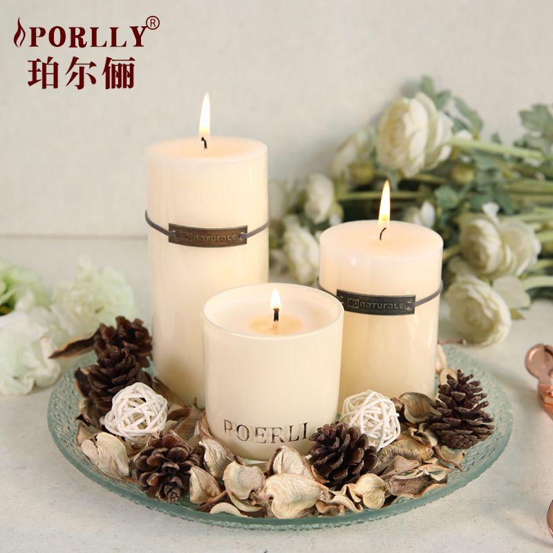 香薰蜡烛套装白色无烟蜡烛香氛礼品蜡烛礼浪漫婚庆蜡烛组合大蜡烛