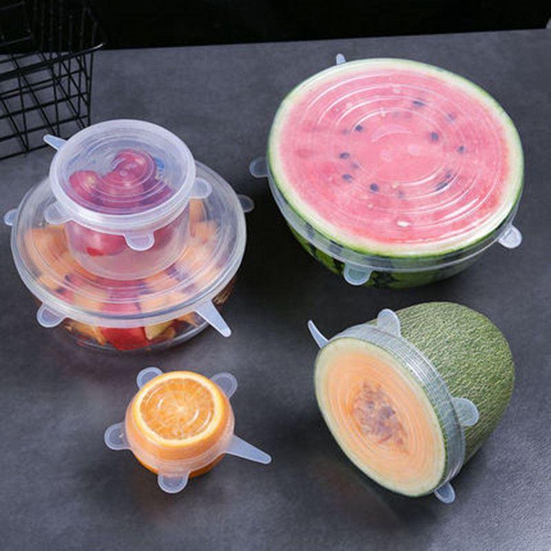 硅胶盖子万能盖盖碗防尘用具便当盒食品盖保存保鲜盒盖加热菜罩