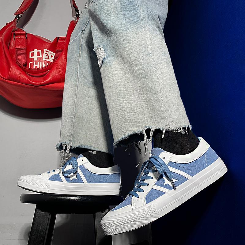 春季ins星星帆布鞋男韩版潮流男鞋值得购买吗