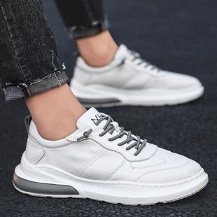 小白鞋男鞋子2019冬季新款韩版潮流百搭白色板鞋男士休闲运动鞋男图片