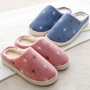 秋冬季居家用室内厚底家居棉拖鞋