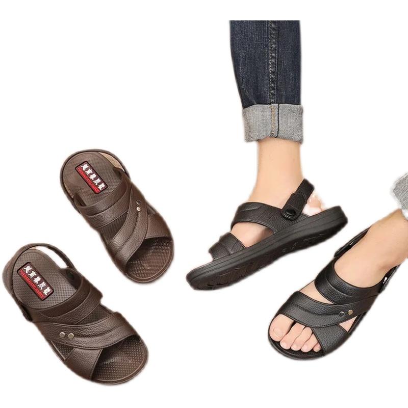 【防滑加厚耐磨】韩版防滑休闲舒适耐磨外穿质量男士凉鞋厚底夏季