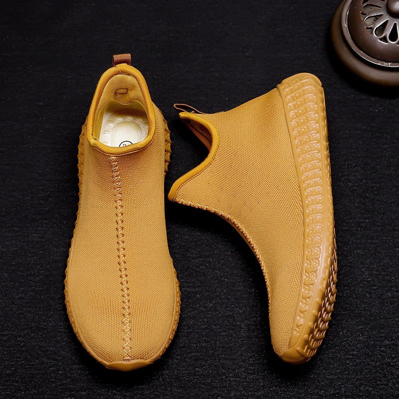 Monk shoes spring and autumn flying woven face male monk shoes Luohan monk shoes nun monk shoes breathable