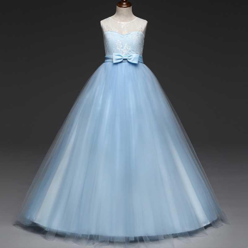 2019年新款女童晚礼服公主裙儿童音乐会钢琴演出礼服长款舞台表演