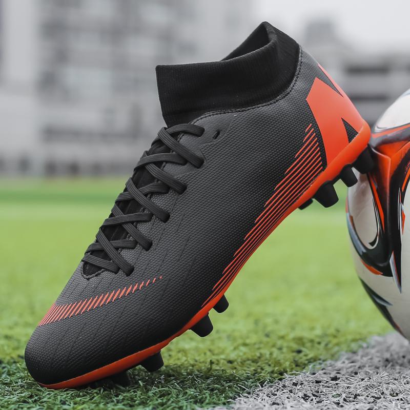 青少年ag长钉足球鞋男子女成人训练运动鞋学生tf碎钉人造草地皮足