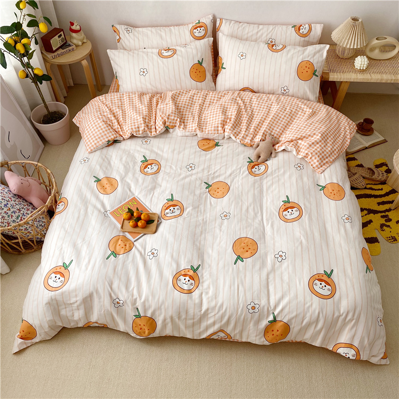 Princess wind quilt cover 200x230 pure four piece set girls ins cotton childrens bedding three piece set