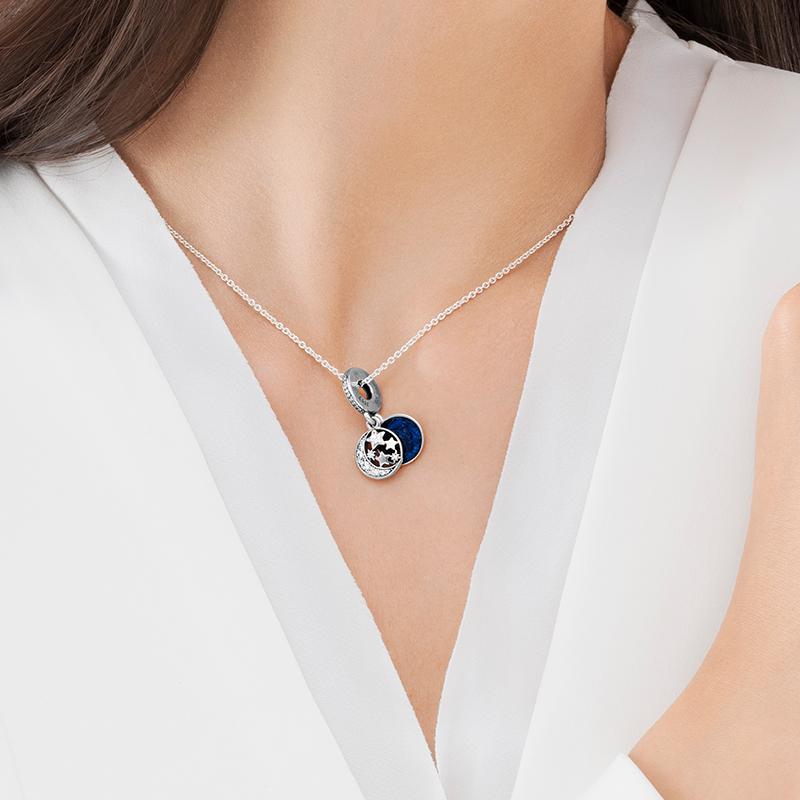 。唯潘多拉美家星海之辰项链s925纯银女锁骨链复古夜空串饰欧美吊券后133.50元