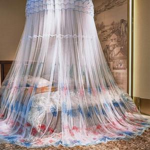 促销儿童蚊帐公主风可放床垫紫色防风防宝宝掉床圆顶蚊帐公主宫廷