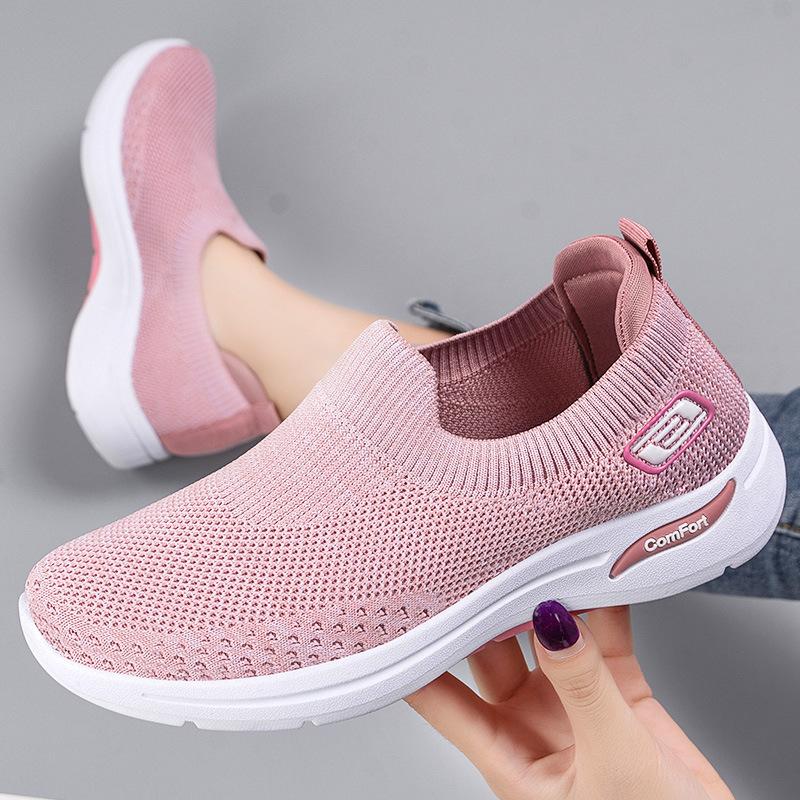 中國代購|中國批發-ibuy99|运动鞋女|鞋子女2021新款女鞋休闲健步鞋袜子鞋软底舒适妈妈鞋时尚运动鞋女