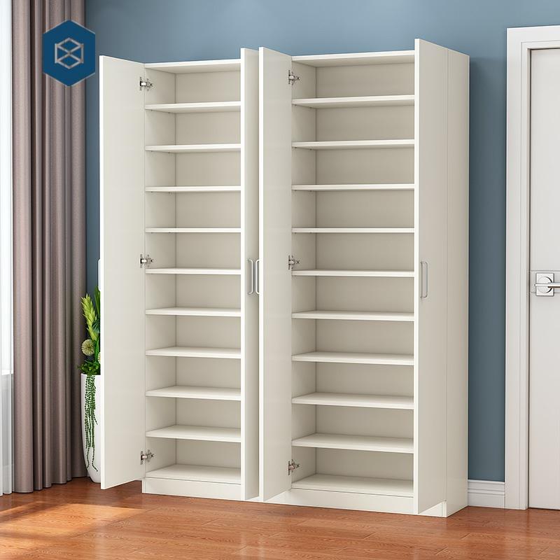 纯实木鞋柜全实木多层带门现代简约进门鞋架门厅柜木质玄关置物架