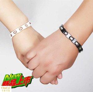 情侣手链一对玫瑰金手镯钻石磁石保健防辐射学生手串韩版配饰礼品