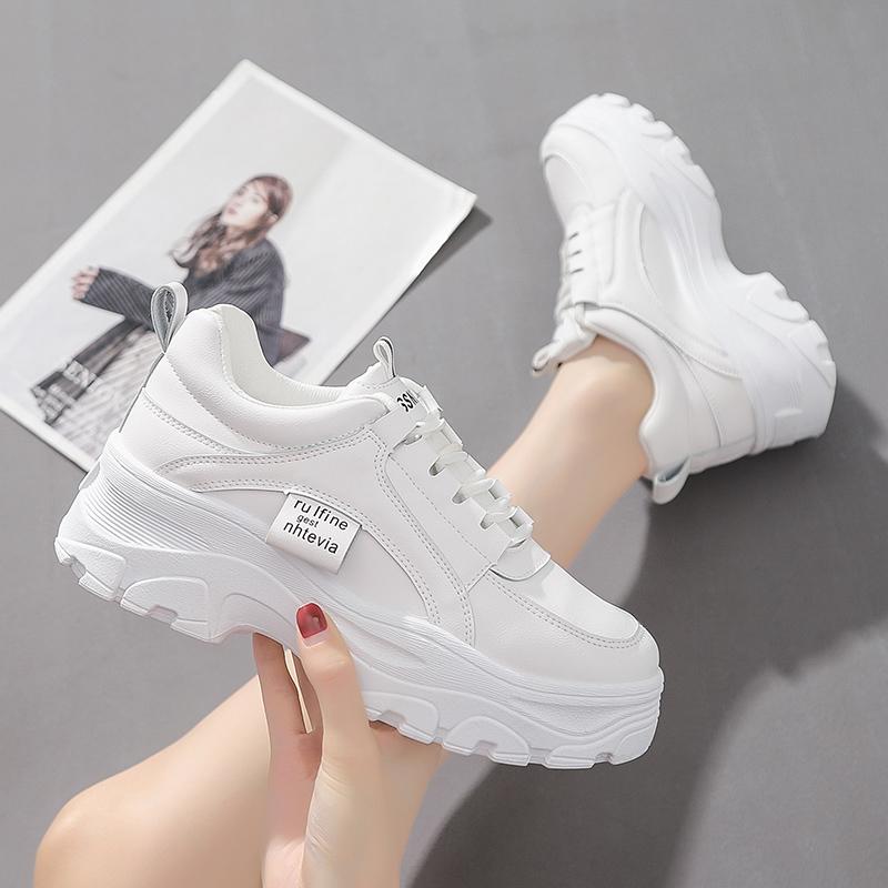 小白鞋女厚底增高2020秋季新款韩版潮百搭学生超火的运动老爹鞋女