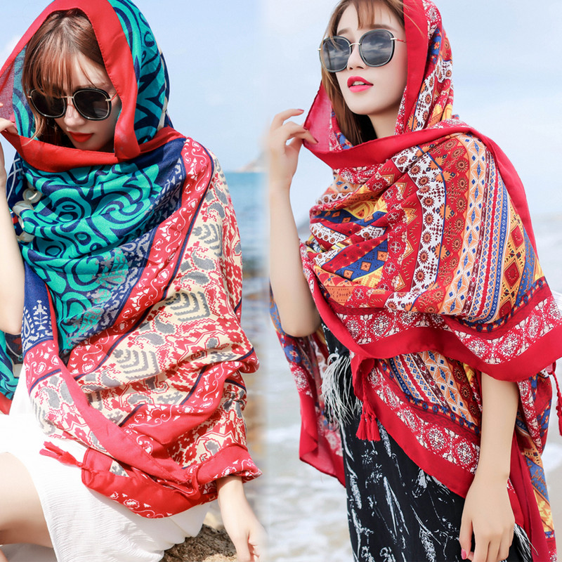 2020 new beach holiday wrap skirt air conditioning shawl scarf swimsuit shawl sunscreen shawl beach towel