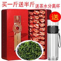 买一斤送半斤 送茶水分离杯 新茶铁观音 浓香型乌龙茶 茶叶礼盒装