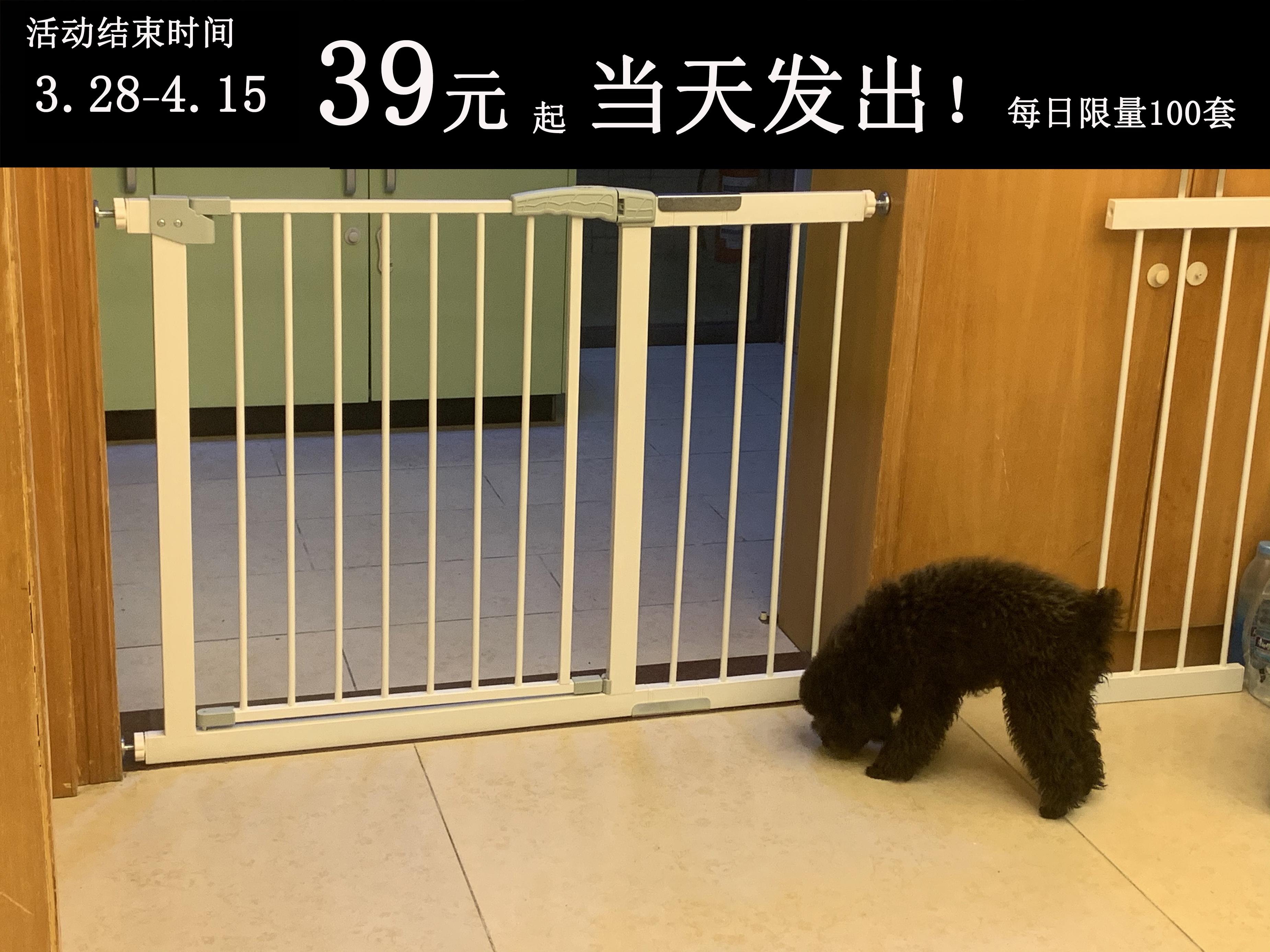 宠物门栏狗狗围栏室内隔离栏杆安全楼梯防护栏大型儿童门栏狗栅栏