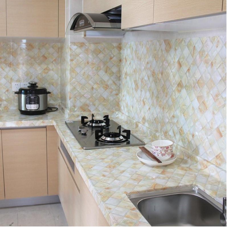 新款仿大理石纹贴纸自粘墙纸厨房防油贴浴室卫生间橱柜灶台面防.