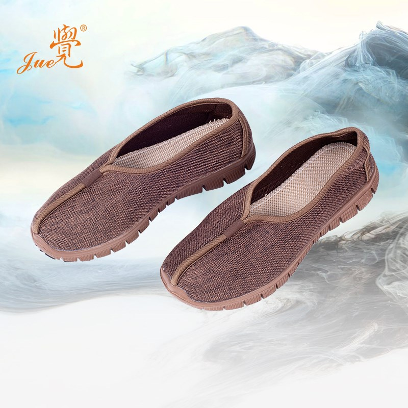 Cotton hemp monk shoes monk shoes single shoes mens and womens summer breathable monk thick soft soled monk cloth shoes Buddhism spring and Autumn