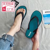 新款人字拖情侣夏季时尚户外休闲凉拖夹脚拖鞋男防滑橡胶沙滩鞋
