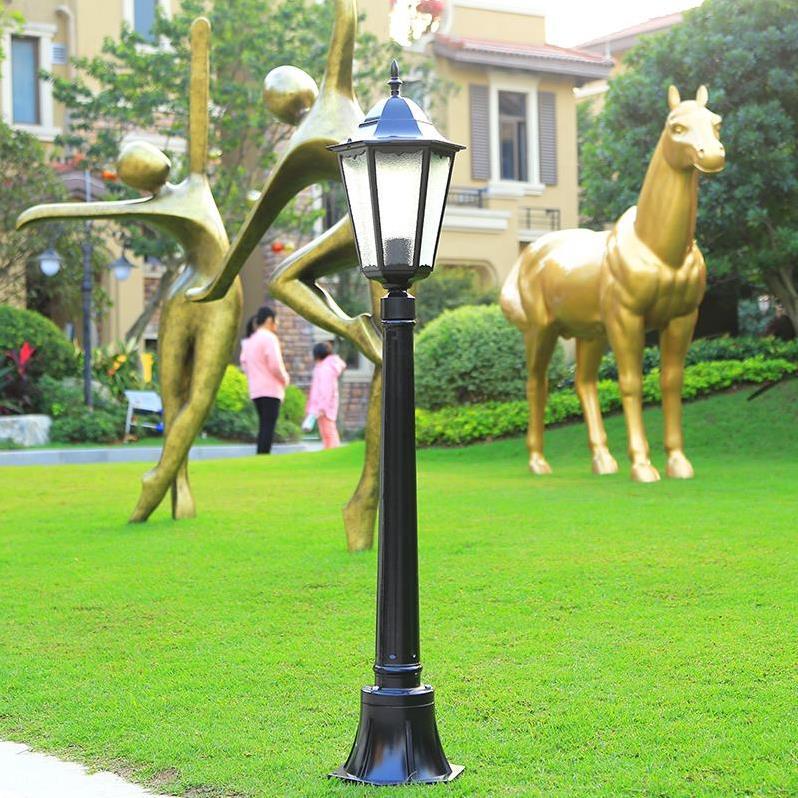led展望庭園六角庭園灯室外家庭屋外灯家庭用高竿花園芝生灯小区