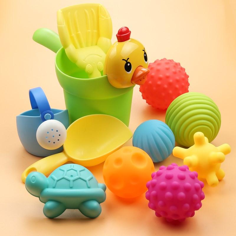 43.85元包邮儿童洗澡玩具 花洒水壶 小黄鸭套装洗头杯洗澡玩具洒水壶套装沙滩
