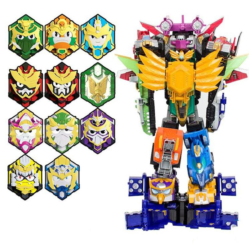 梦想三国玩具永恒之神黄金版14合体变形机甲机器人传奇英雄牌男孩