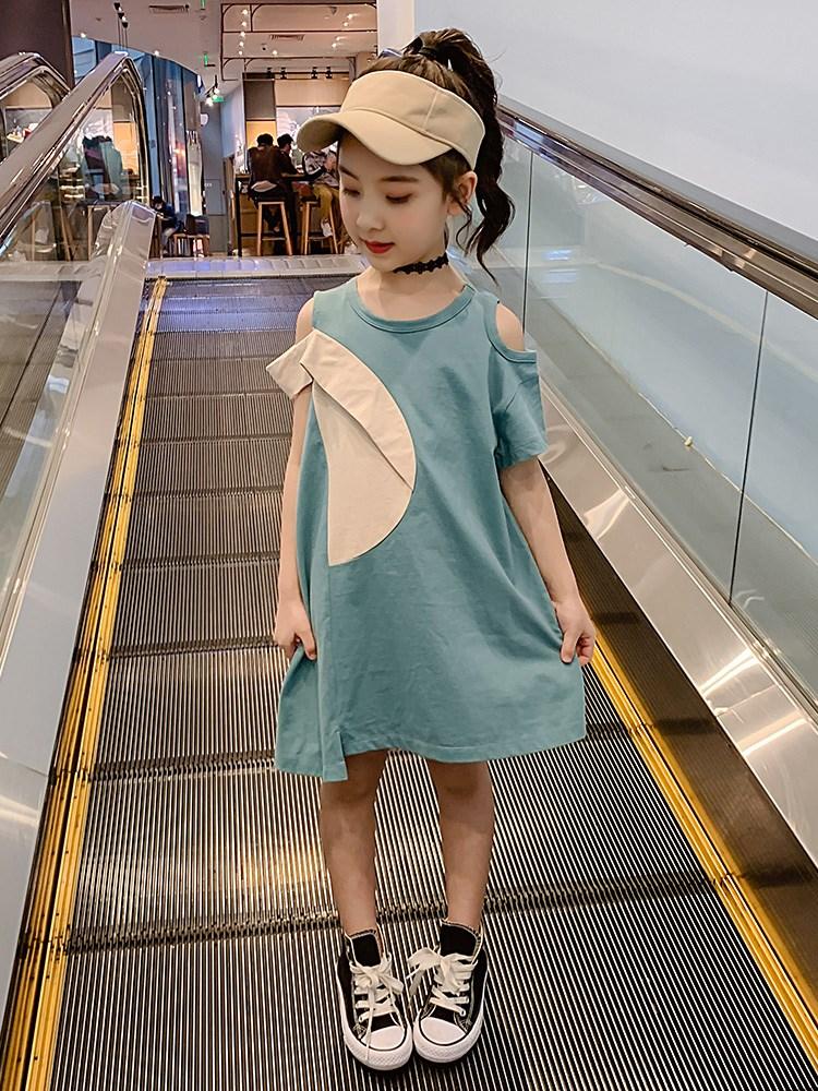 女童连衣裙夏季2020新款儿童装网红洋气夏装休闲裙子大童女孩夏款