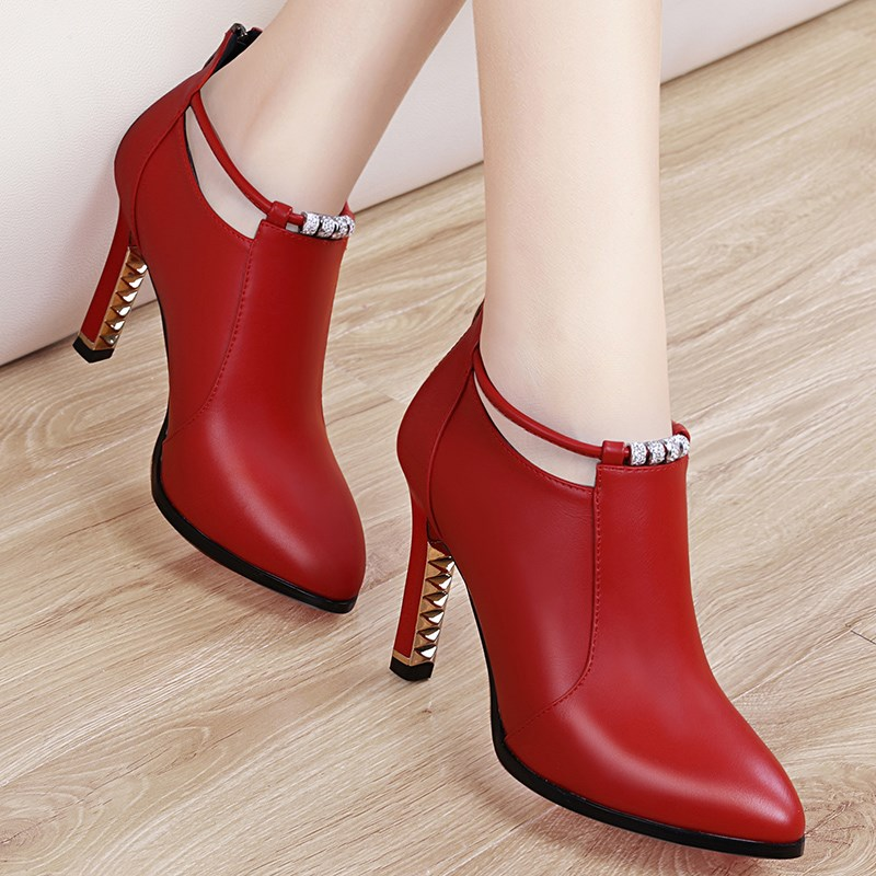 Wedding shoes red leather shoes womens 2020 new womens shoes