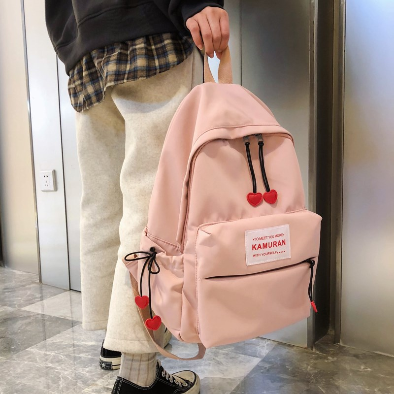 Schoolbag for junior high school students female ins wind Korean version high school students fashion backpack 2020 new fashion big backpack
