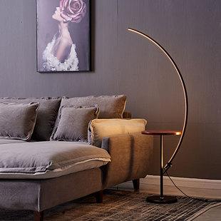 茶几置物北欧立式卧室床头钓鱼落地台灯ins简约现代led落地灯客厅